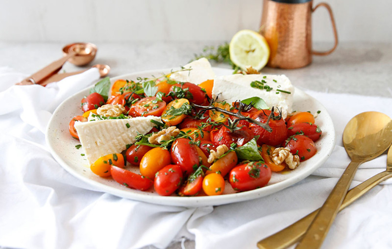 DAY 2: LEMON, RICOTTA TOMATO SALAD