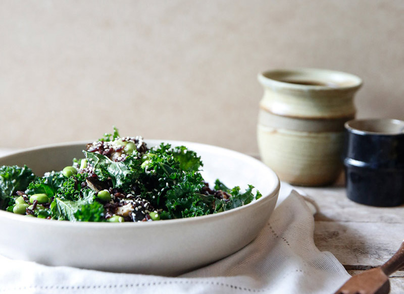 Wild Rice, Kale and Nori Salad