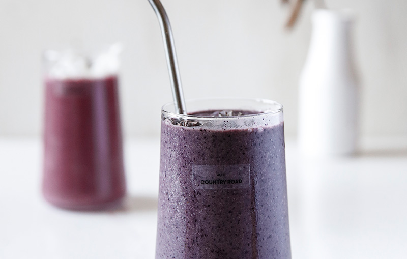 Blueberry Dreams Smoothie: Brought to you in collaboration with Country Road