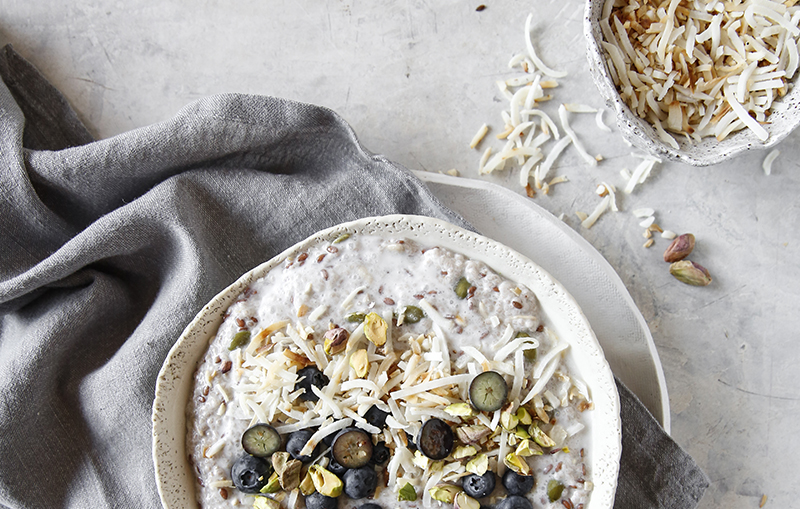 Chia and coconut pudding