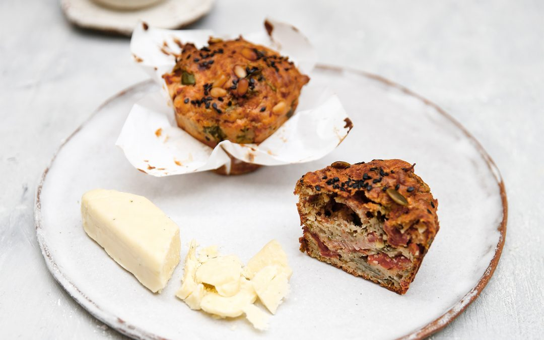 Savoury Cheese Breakfast Muffins