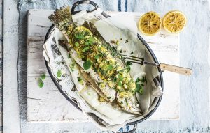 Lemon-grilled barramundi