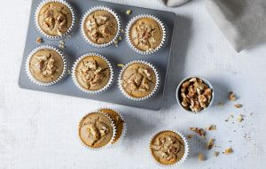 BUCKWHEAT FLOUR COFFEE AND WALNUT MUFFINS